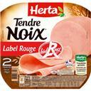 Herta Tendre Noix - Jambon Label Rouge la barquette de 2 tranches - 70 g