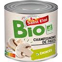 Saint Eloi Champignons de Paris émincés BIO la boite de 230 g net égoutté