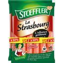 Stoeffler Saucisse de strasbourg le lot de 2 sachets de 6x40 gr