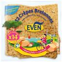 Even Crêpes bretonnes au lait frais et au beurre frais le paquet de 14 crêpes 410 gr -