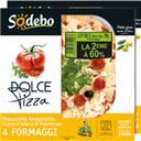 Sodebo Dolce Pizza - Pizza 4 Formaggi le lot de 2 pizzas de 380 g