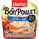 Herta Le Bon Poulet - Filet de poulet réduit en sel les 2 barquettes de 120 g