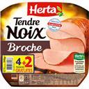 Herta Tendre Noix - Jambon à la broche la barquette de 6 tranches - 240 g