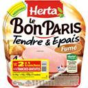 Herta Le Bon Paris - Jambon Tendre & Epais fumé les 3 barquettes de 4 tr - 420 g