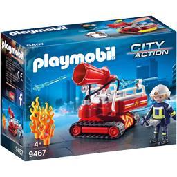 Pompier avec robot d'intervention