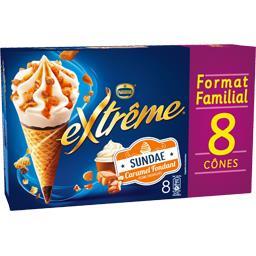 Nestlé Nestlé Extrême - Glace Sundae caramel fondant pécans caramé...