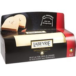 Labeyrie Bloc de foie gras de canard du Sud-Ouest avec morcea... le bloc de 530 g