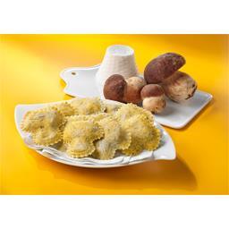 Funghetti raviolis aux cèpes à la farine de sarrasin