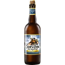 Bière blonde La Cervoise des Ancêtres la bouteille de 75 cl