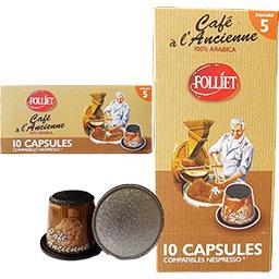 Capsules de café moulu à l'ancienne