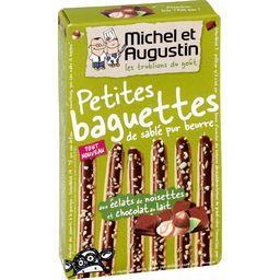 Petites baguettes sablé pur beurre noisettes/chocolat lait