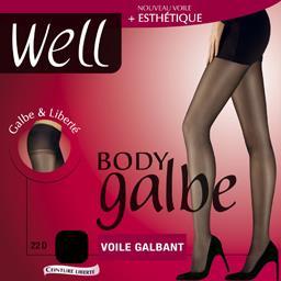 Body Galbe - Collant voile galbant noir T4