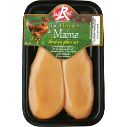 Filet de poulet fermier du Maine jaune Label Rouge
