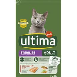 Croquettes chats stérilisés adultes au saumon et à l...