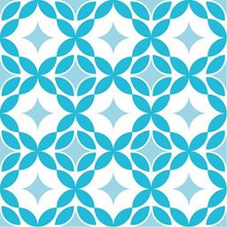 Serviettes 3 plis 33x33 cm Paving bleu