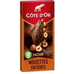 Chocolat noir Bloc noisettes entières