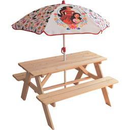 Table pique nique + parasol Eléna d'Avalor