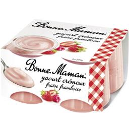 Yaourt crémeux fraise framboise