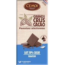 Chocolat lait 50% Grands Crus Cacao BIO