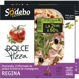 Sodebo Dolce Pizza - Pizza Regina mozzarella chiffonnade de... le boites de 400 g