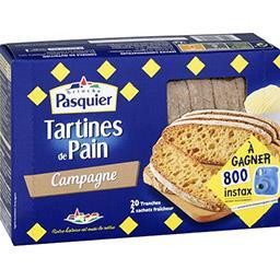 Tartines de pain de campagne