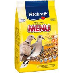 Menu tourterelles, pigeons et cailles