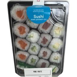 Maki mixte (thon, saumon, avocat, concombre)