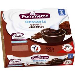 Crème dessert saveur chocolat, dès 8 mois