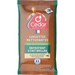O'Cedar Lingettes nettoyantes bois de santal