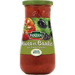 Sauce olives & basilic tomates 100% fraîches