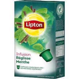 Lipton Infusion réglisse menthe la boite de 10 - 20 g