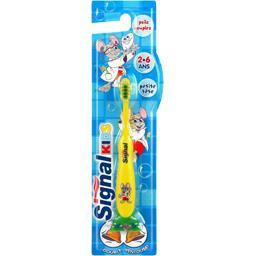 Brosse à dents poils souples, 2-6 ans, double ventou...