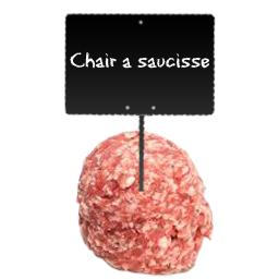 Chair à saucisse sans colorant