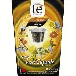 Capsule de thé noir naturel aromatisé citron - black tea citrus