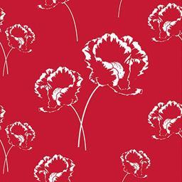 Serviettes 3 plis 33x33 cm Poppy rouge
