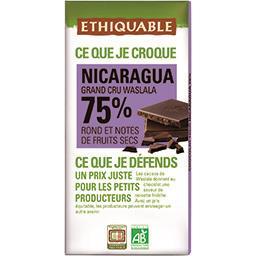 Chocolat noir 75% Nicaragua BIO