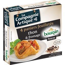 Paniers feuilletés thon & fromage Boursin poivre