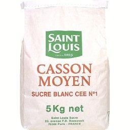 Casson moyen, sucre blanc