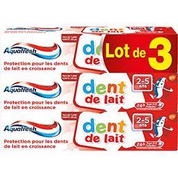 Dentifrice Dent de Lait 2-5 ans goût menthe
