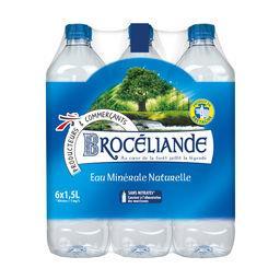 Eau de source, le pack de 6 bouteilles 1,INTERMARCHE,le pack de 6 bouteilles 1,5 L - 9 L