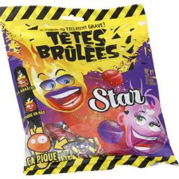 Bonbons Star fourrés Poudr'acide goûts fraise-cassis