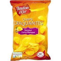 Chips craquantes, saveur curry-mangue
