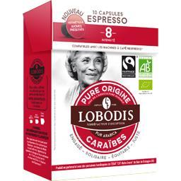 Pure Origine - Capsules de café BIO pur arabica Caraïbes