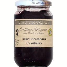 Confiture artisanale mûre framboise Cranberry
