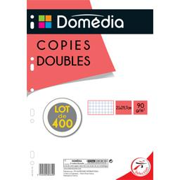Copies doubles perforées 21x29,7 cm petits carreaux