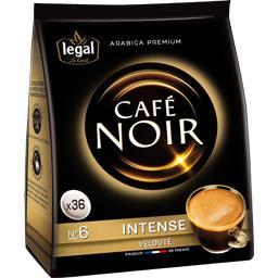 Dosettes de café Noir, intense velouté
