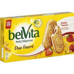 Belvita Petit Déjeuner - Biscuits Duo Fourré fraise yaourt & 5 céréales complètes