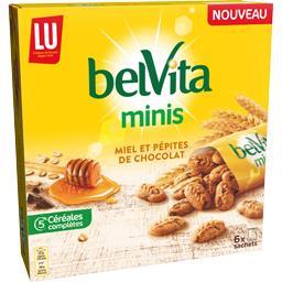Belvita - Biscuits céréales Minis miel et pépites de...