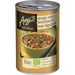 Soupe aux lentilles et aux légumes BIO