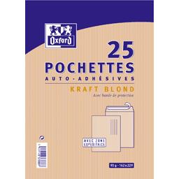 Pochettes auto-adhésives kraft blond 162x229
